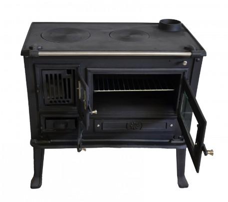 Cucina con forno stufa a legna VIOMETALKO FIRENZE in ghisa decorata 8/11 Kw  eBay