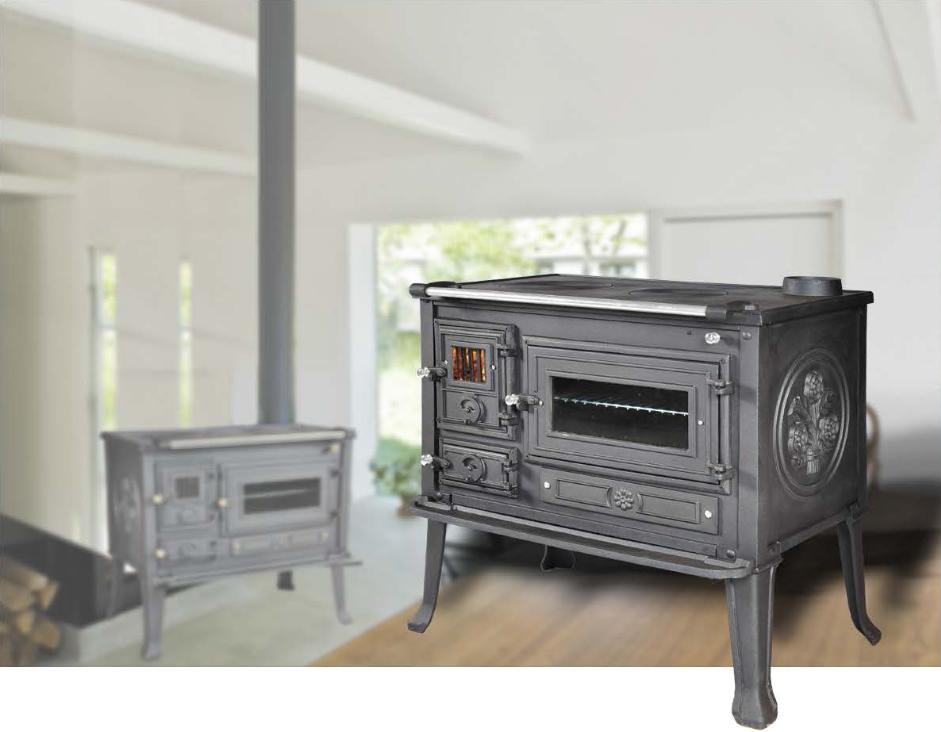 Cucina con forno stufa a legna VIOMETALKO FIRENZE in ghisa ...