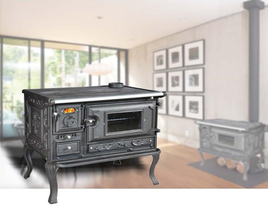 Cod e250 stufa cucina a legna messina for Stufa a legna per veranda protetta
