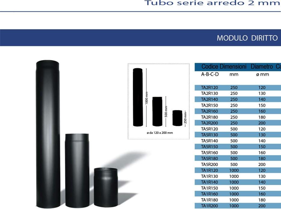 Tubi serie arredo 2 mm worldglobaltrade e c o e n e r g i e - Tubi stufe a legna ...